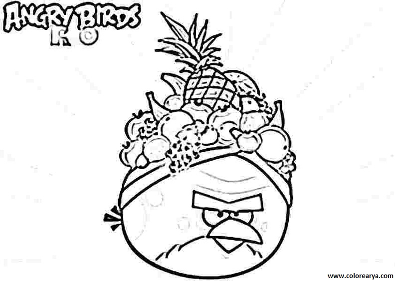 Angry birds rio 2 colouring pages for Angry birds rio coloring pages