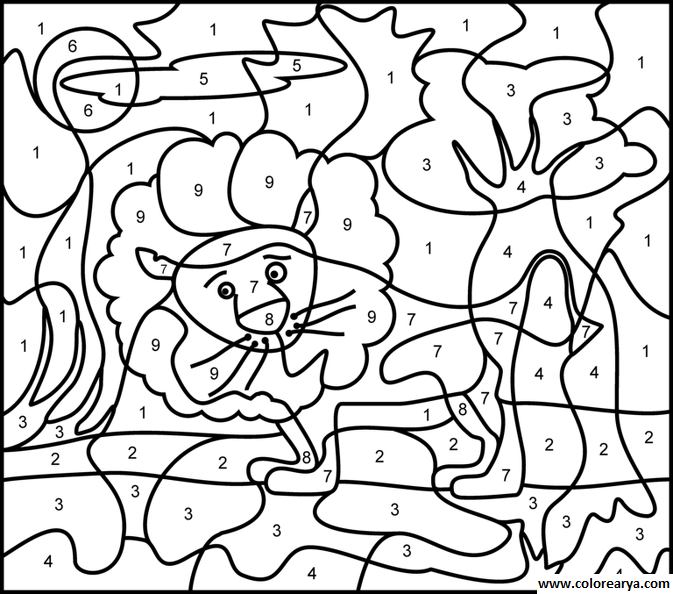 Pintando por numeros - Imagui