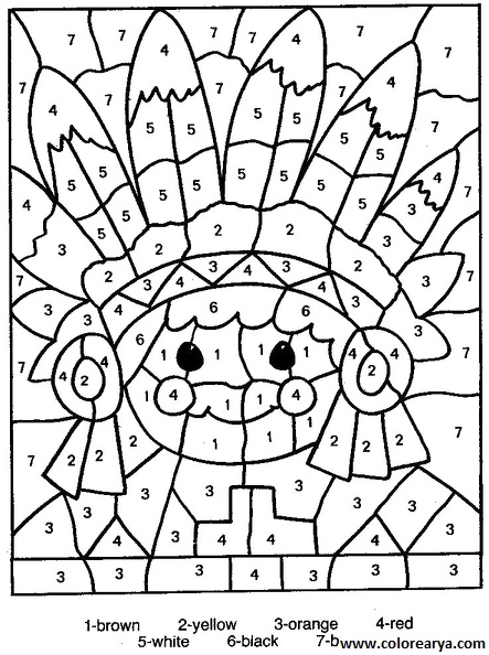 Dibujos con numeros para pintar - Imagui
