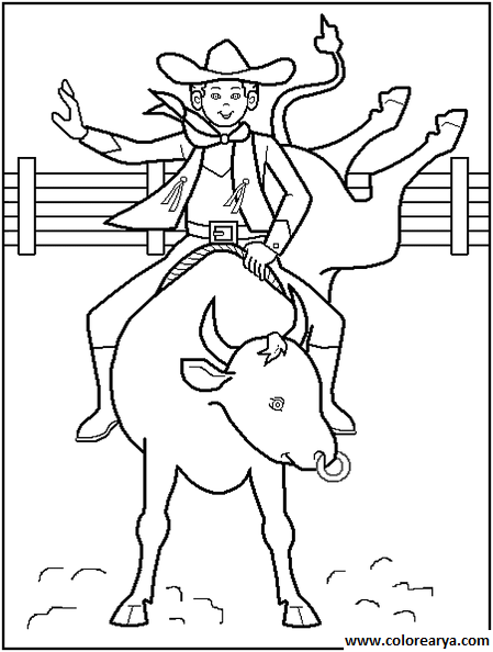 coloring book western pages - photo#18