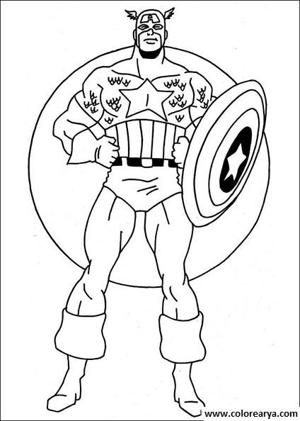 Imagenes super heroes para colorear - Imagui