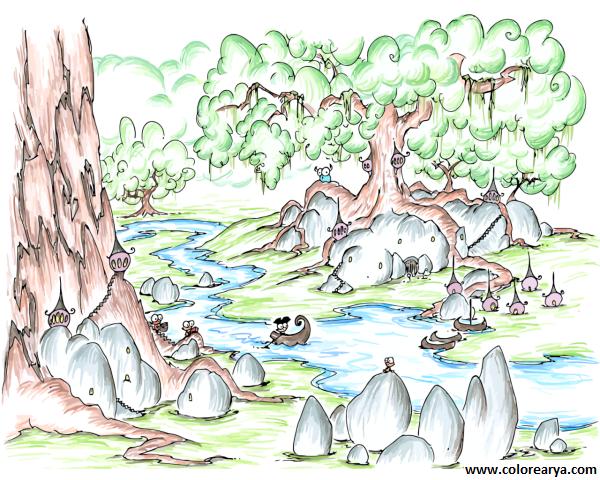 Dibujos De Naturaleza Para Colorear. Finest Dibujo De Flores A Para ...