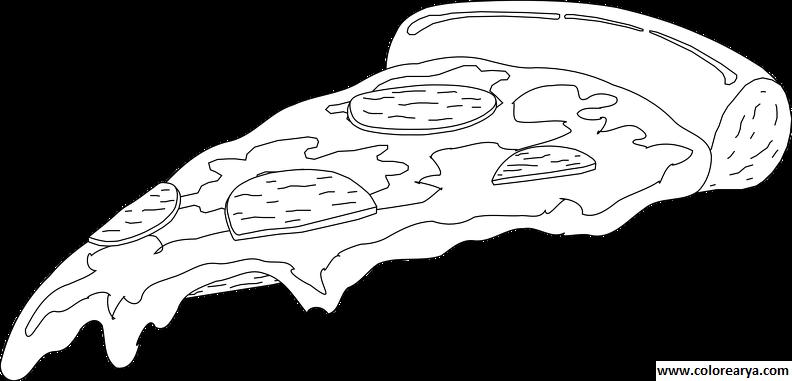 Dibujo De Porción De Pizza Pintado Por En Dibujos Net El Día 25 08 ...