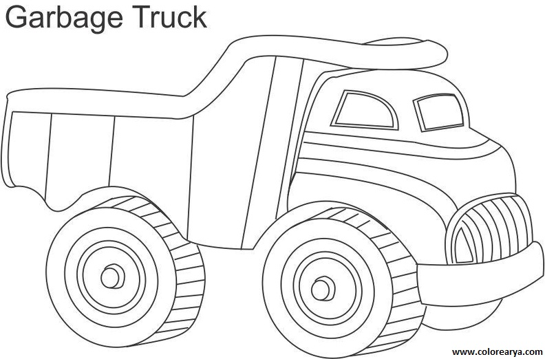 cardinal coloring pages preschool truck - photo#27