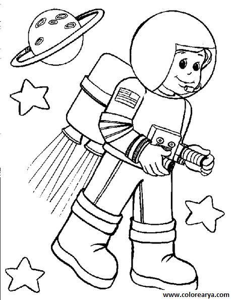 Lujo Astronauta Para Colorear Imprimible Festooning - Páginas Para ...