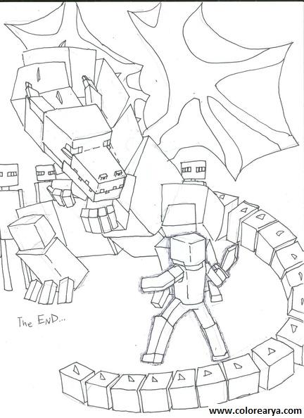 Dibujos Para Pintar De Minecraft. dibujos de minecraft para colorear ...