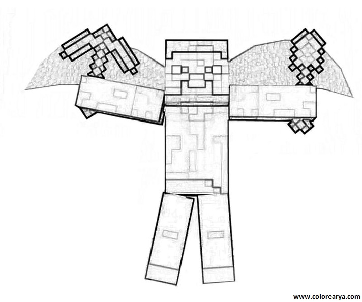 Minecraft Giant Zombies Free Coloring Pages