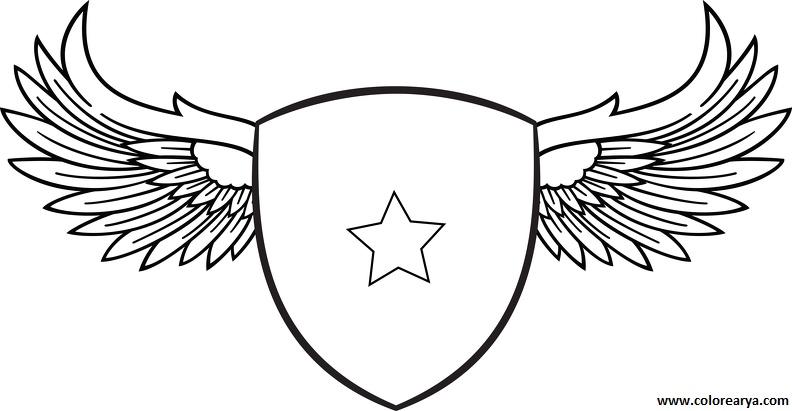 Escudos en blanco para pintar - Imagui