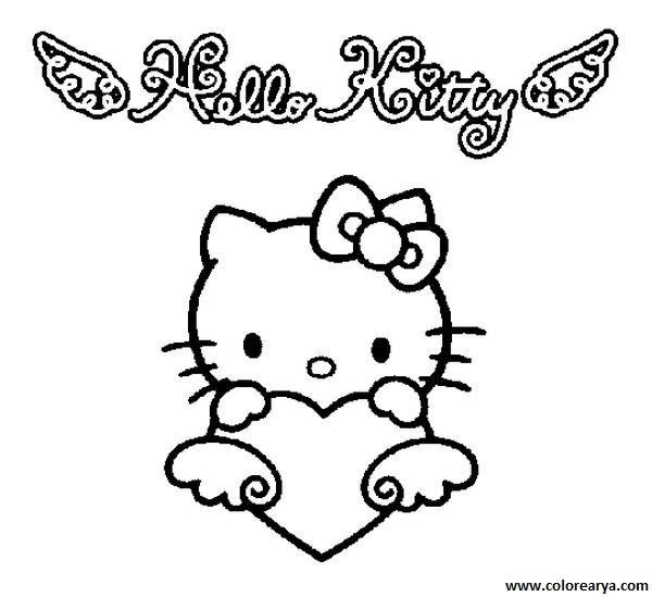 kitty_colorear图片