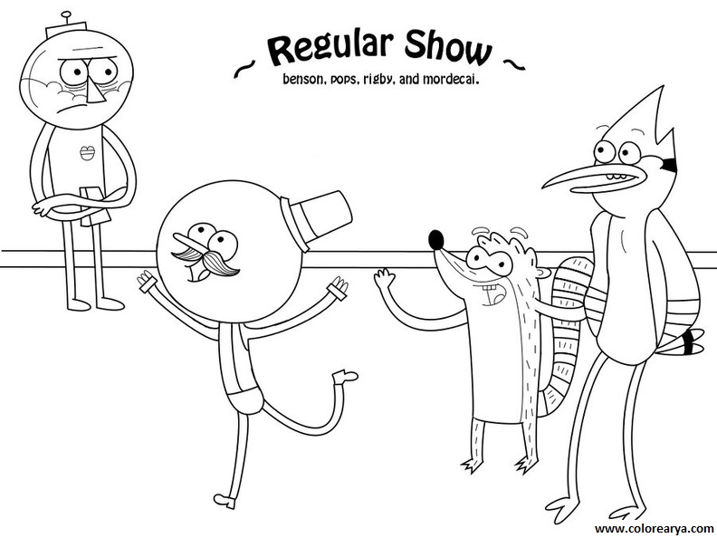 Pin regular mostrar colouring pages on pinterest for Regular show coloring pages