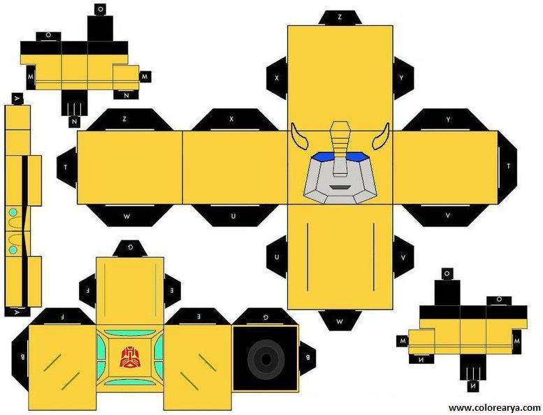 Модель робота из бумаги своими руками 100