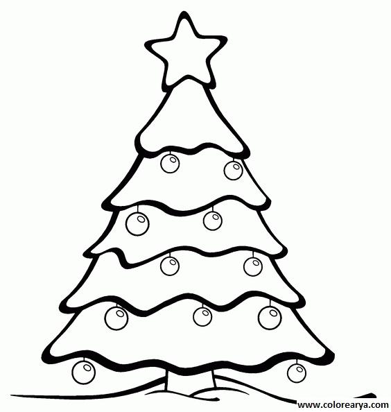 Arboles De Navidad Dibujos Coloreados.Dibujos Para Colorear Y Pintar Para Los Ninos