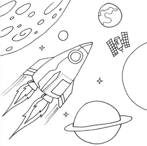 Dibujos sobre el espacio para niños - Imagui