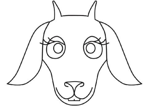 goats masks Colouring Pages