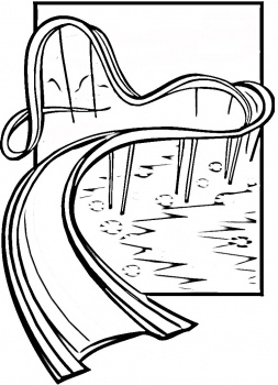 On Coloring Page Of A Roller Coaster