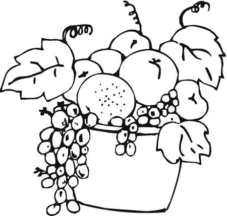 Canasta De Frutas En Pintura. Frutas Y Verduras Para Colorear Buscar ...